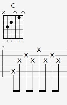 带和弦图六线谱